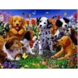 Алмазная мозаика «Далматинец с друзьями» 30х40