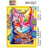 Алмазная мозаика 3D «Звездный кот» 40х50